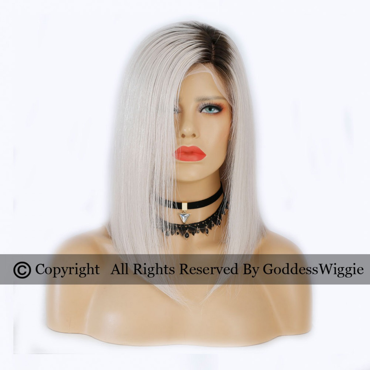 4 Wig Types Optional 7a Platinum Ombre Sliver Short Cut Human Hair Wigs